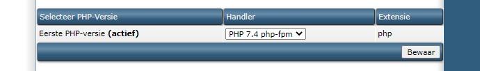 PHP-versie
